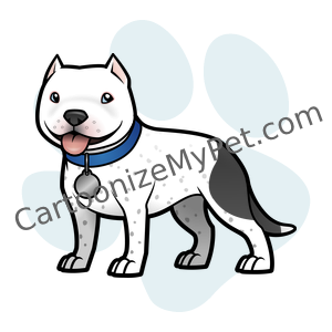 Cute Pitbull Cartoon