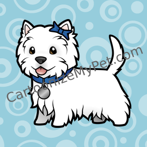 Cute Cartoon Westie