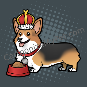 King Pembroke Corgi Cartoon