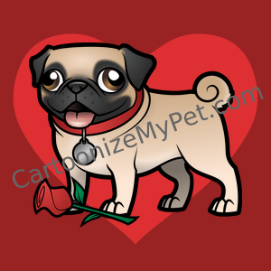 Cute Cartoon Pug