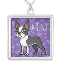 Personalized Boston Terrier Necklace
