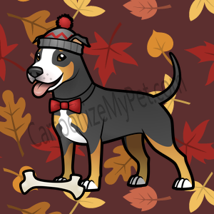 Here's the cartoon American Pitbull Terrier I made at Cartoonize My Pet!