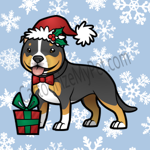 Here's the cartoon American Staffordshire Terrier I made at Cartoonize My Pet!