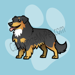 Here's the cartoon Australian Shepherd I made at Cartoonize My Pet!