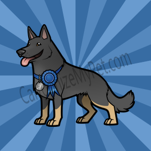 Here's the cartoon German Shepherd I made at Cartoonize My Pet!