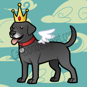 Here's the cartoon Labrador Retriever I made at Cartoonize My Pet!
