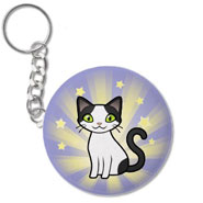 Van Pattern Cat Keychain